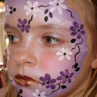Purple Flower Face