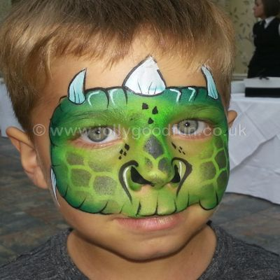 Dinosaur Face Paint design